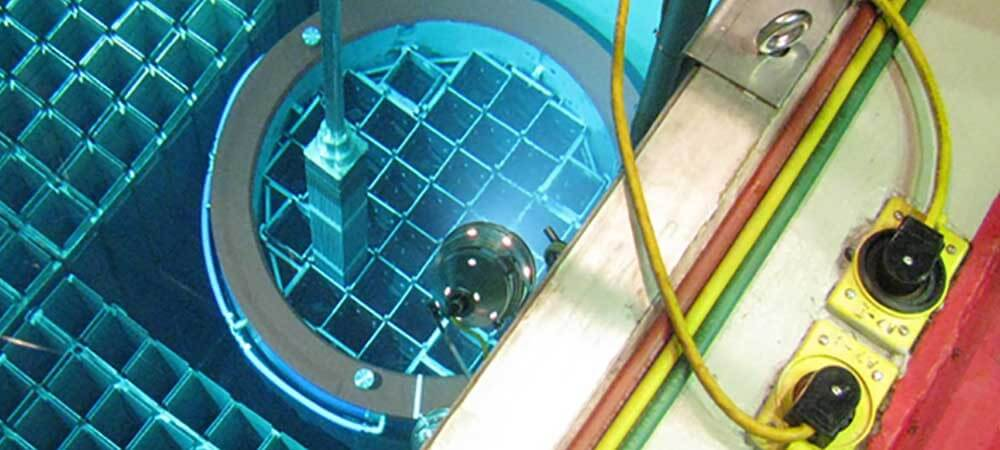 Spent nuclear fuel assembly in a cooling pool